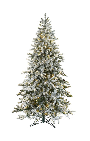 Елка Big White с инеем 213 см, ПВХ, LED, Holland Trees